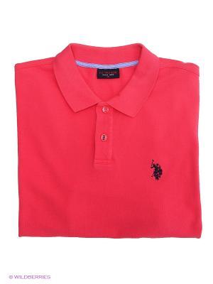 Футболка-поло U.S. Polo Assn.. Цвет: малиновый, розовый