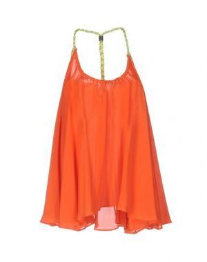 Топ без рукавов ELLA LUNA. Цвет: оранжевый