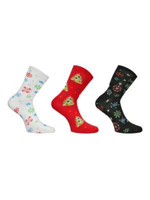 Носки 3 пары Master Socks. Цвет: молочный, антрацитовый, бордовый