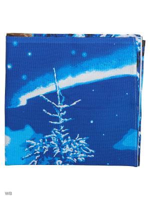Полотенце вафельное банное Римейн. Цвет: синий