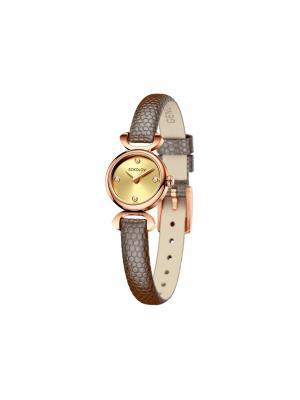Часы ювелирные коллекция About you SOKOLOV. Цвет: коричневый, золотистый
