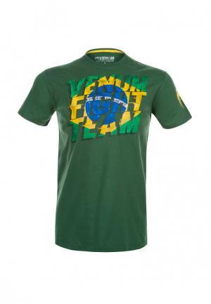 Футболка Venum. Цвет: зеленый
