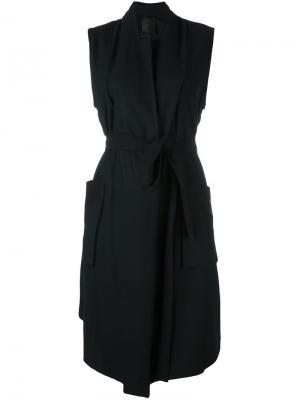 Пальто с поясом без рукавов Lost & Found Ria Dunn. Цвет: чёрный
