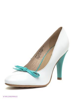 Туфли Clotilde. Цвет: белый, бирюзовый