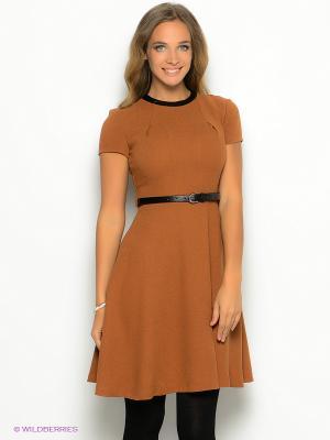 Платье ZARINA. Цвет: светло-коричневый