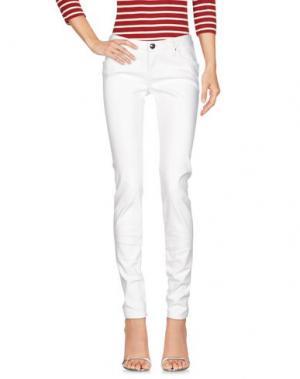 Джинсовые брюки LEROCK. Цвет: белый