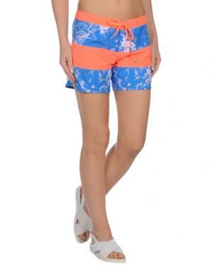Пляжные брюки и шорты HURLEY. Цвет: синий