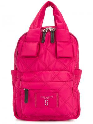 Стеганый рюкзак Marc Jacobs. Цвет: розовый и фиолетовый