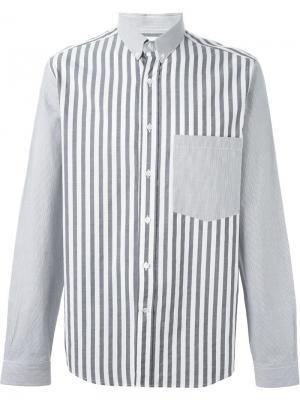 Рубашка в полоску Ami Alexandre Mattiussi. Цвет: чёрный