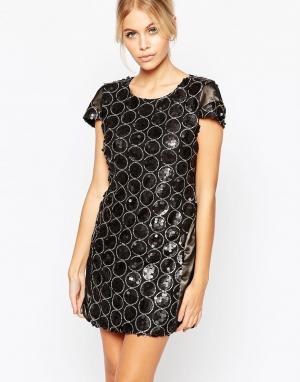 Hedonia Платье с отделкой пайетками Ashley. Цвет: серый