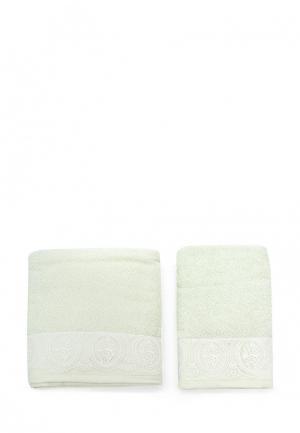 Комплект полотенец 2 шт. Sofi De Marko. Цвет: зеленый
