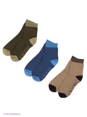 Носки, 3 пары Гамма. Цвет: желтый, синий