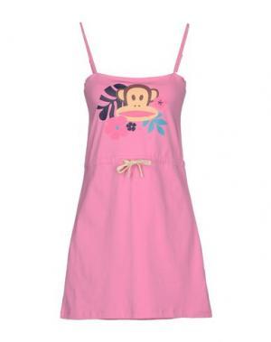 Короткое платье PAUL FRANK. Цвет: светло-фиолетовый