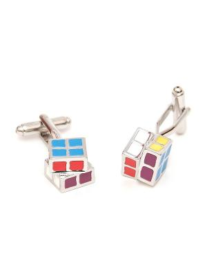 Запонки кубик рубика Churchill accessories. Цвет: серебристый
