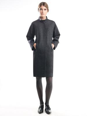 Пальто Pompa. Цвет: темно-серый, серый меланж
