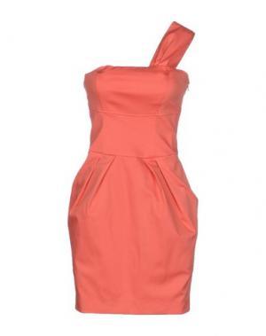 Короткое платье TOY G.. Цвет: коралловый