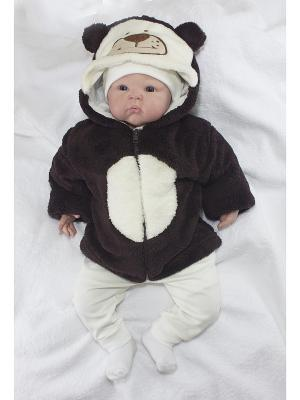 Кофточка Мишка Пушистик цвет: молочный с коричневым ОСЬМИНОЖКА. Цвет: коричневый, молочный