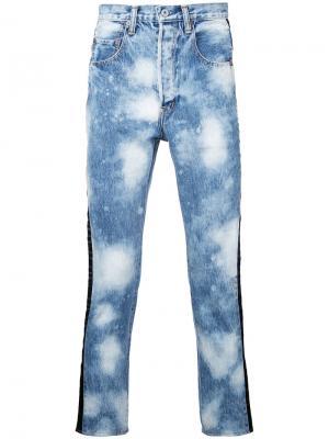 Выбеленные джинсы Doublet. Цвет: синий