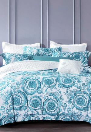 Комплект постельного белья Bellehome. Цвет: бирюзовый