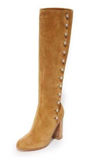 Замшевые ботинки Maison Margiela. Цвет: коричневый