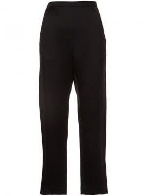 Укороченные брюки Zero + Maria Cornejo. Цвет: чёрный