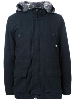 Куртка с капюшоном и накладными карманами Yves Salomon Homme. Цвет: чёрный