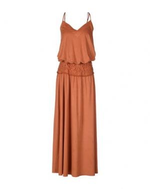 Длинное платье MARIAGRAZIA PANIZZI. Цвет: оранжевый