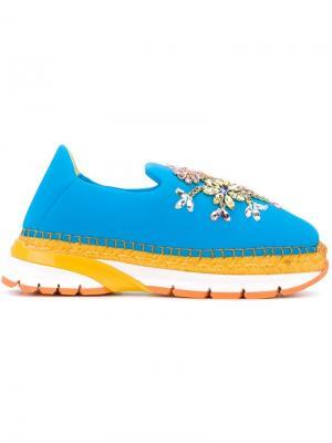 Декорированные эспадрильи Dolce & Gabbana. Цвет: синий