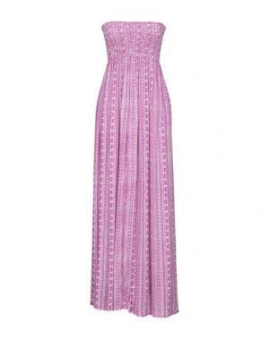 Длинное платье COOLCHANGE. Цвет: розовато-лиловый