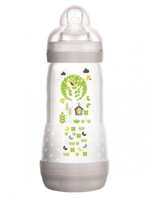 Бутылочка Mam антиколиковая 320 мл, с 4 месяцев. Цвет: серый