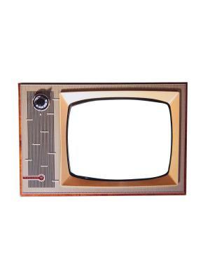 Магнит фоторамка Олдскул ТВ. Оранжевый Слоник. Цвет: синий, зеленый, красный