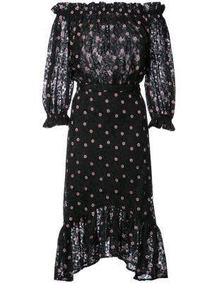 Платье Grace из тюля Saloni. Цвет: чёрный