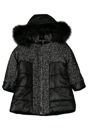 Куртка VIADELLEPERLE VDP. Цвет: черный