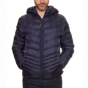 Стеганая куртка с капюшоном Chicore Hood GEOGRAPHICAL NORWAY. Цвет: темно-синий