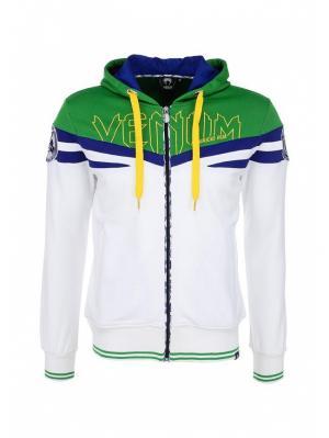 Толстовка Venum. Цвет: белый, зеленый