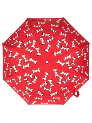Зонт складной Moschino 7060-OCC Candies Red. Цвет: черный, белый, красный