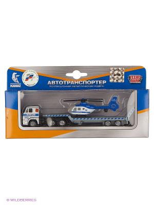 Машина Технопарк металлический камаз транспортер. Цвет: синий, серый