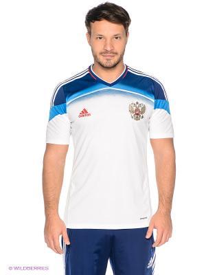 Футболка Russia Away Adidas. Цвет: белый, синий