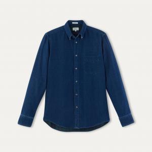Рубашка SIDE HARTFORD. Цвет: синий