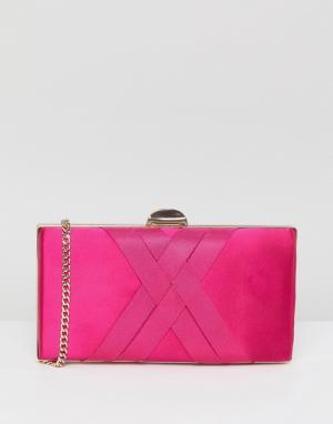 Carvela Атласная сумка-клатч Dani. Цвет: розовый