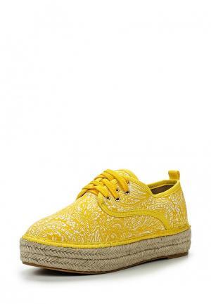 Ботинки Catisa. Цвет: желтый