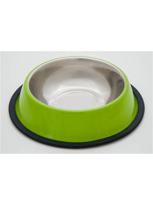 Миска нескользящая Doggy Style. Цвет: зеленый