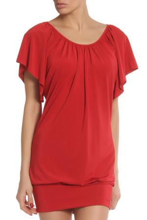 Коктейльное платье с ниспадающими рукавами Liu Jo. Цвет: красный
