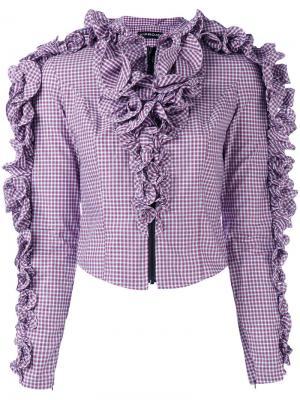 Укороченная блузка с рюшами Y / Project. Цвет: красный