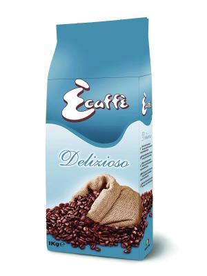 Кофе в зернах Delizioso 1кг ECAFFE CAFFITALY. Цвет: голубой