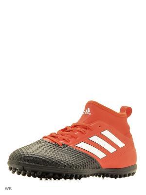 Футбольные бутсы (шиповки) муж. ACE 17.3 PRIMEMESH Adidas. Цвет: красный