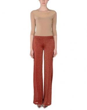 Повседневные брюки ROBERTO COLLINA. Цвет: кирпично-красный