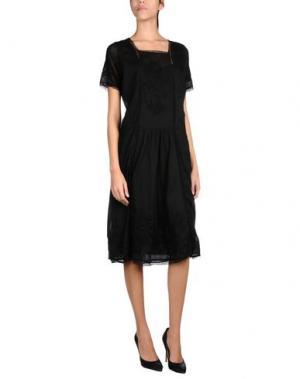 Платье до колена LOCAL APPAREL. Цвет: черный