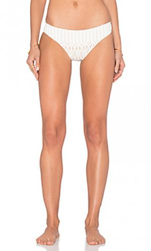 Низ бикини sprial lace brazilian bottom Nightcap. Цвет: белый