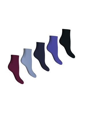Носки 5 пар Master Socks. Цвет: бордовый, черный, темно-синий, индиго, серо-голубой